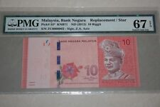 (PL) RM 10 ZC 0000063 PMG 67 EPQ 5 ZERO LOW NUMBER REPLACEMENT NOTE GEM UNC