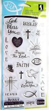 Good News Religious Faith Clear Acrylic Stamp Set for Bible Journal 99568 NEW!