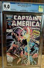 Captain America Annual #8, CGC 9.0 (White Pages), 1986 First Printing