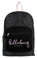 BILLABONG BACKPACK BLACK S WOMENS LADIES GIRLS NEW ONE SIZE CANVAS BAGS BAG 18L