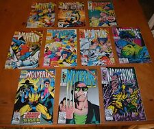 LOT F 10 WOLVERINE COMIC BOOKS LOT FOR COLLEGE BOOKS / TUITION - READ BUT LOVED
