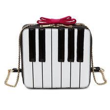 Piano Keys Shoulder Bag Bow Handbag Women Ladies Mobile Purse Crossbody Bags New