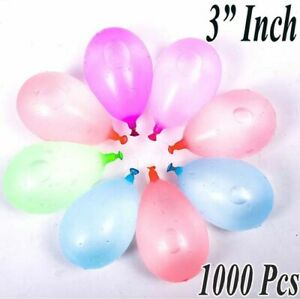 "3"" Inch Water Balloon Bombs Multi Colour Kids Summer Party Fun Choice 1000Pcs"