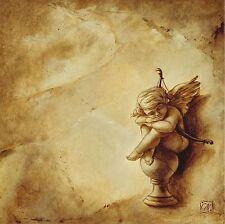 Carla Moresca: Amoretto II Leinwand-Bild 20x20 Wandbild Engel Putte Deko