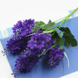 Artificial Hyacinth Flower Branch Fake Silk Floral Home Wedding Party Decoration