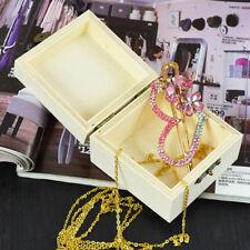 Chic Craft Square Wooden Box Decorative Case Treasure Jewelry Decor Storage Box