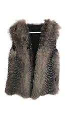 Yves Salomon Fur Vest Jacket Horizontal Fur