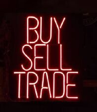 "New Buy Sell Trade Neon Light Sign 24""x20"" Lamp Poster Real Glass Beer Bar"