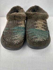 Woolrich Autum Ridge Java Blanket Wool Slippers Women's US Size 8