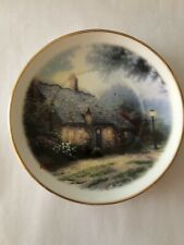 Thomas Kinkade Decorative Plate Moonlight Cottage Small Collectors Plate