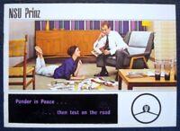 NSU PRINZ Car Sales Brochure c1960 #DW 2107