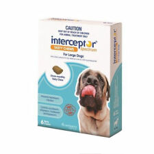 Interceptor Spectrum Tasty Chew Worming Treatment for Large Dogs 6pk