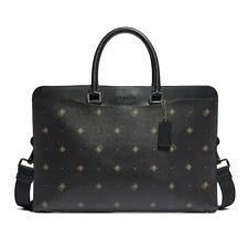 NWT COACH Beckett Structured Brief Briefcase Geo Travel Laptop Black F76816