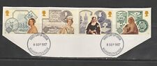 1987 COMMEMORATIVES SET QUEEN VICTORIA ISSUE USED CUT FROM FDC