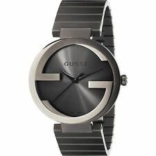 Gucci YA133210 Men's Interlocking G Grey Quartz Watch