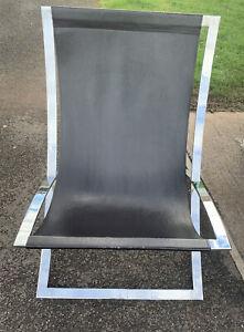 John Shankey Leather And Chrome Chair