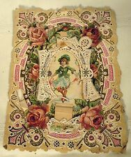 c1890 Victorian Three 3 Layer True Love Greeting Card