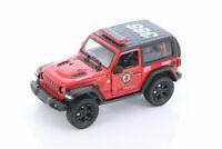 "5"" Kinsmart 2018 Jeep Wrangler Rubicon RED FIRE FIGHTER Diecast Model Car 1:34"