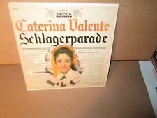 CATERINA VALENTE - SCHLAGERPARADE GREATEST HITS '58 rare German Vinyl LP VG+/VG+