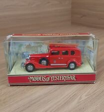 MATCHBOX MODELS OF YESTERYEAR 1933 CADILLAC FIRE ENGINE 1/46 Y61