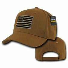 Coyote USA American Flag Tactical Operator Cotton Baseball Cap Hat Caps Hats
