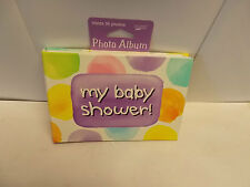 """2 """"My Baby Shower"""" Photo Albums. Each holds 36 Photos J4-1"""