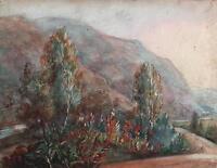 ST MARY'S TOWER BIRNAM DUNKELD SCOTLAND Victorian Painting C LOUISA MACKAY 1874