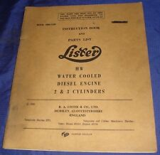 LA036 Lister Petter HW Water Cooled Diesel Engine 2 & 3 Cyl Instruction Manual