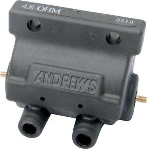 Andrews Black 4.8 ohm Supervolt 12V Ignition Coil for Points Ignition 237230