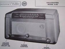 HALLICRAFTERS S-80 RADIO RECEIVER PHOTOFACT