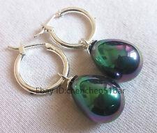 schöne 12*16mm bunte Ohrringe schwarz seemuschel Perle Hochzeit Partei Schmuck