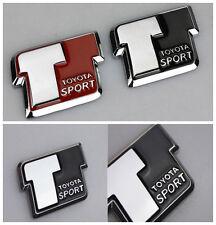 Black T Sport Best Alloy Metal Car Body Side Rear Trunk Lid Sticker Emblem Badge