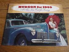 HUDSON RANGE 1940 CAR BROCHURE   jm