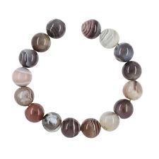 """16 Botswana Agate Round Beads ap. 12mm 7.6"""" #54097"""
