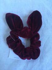 NEW TopShop Velvet Burgundy Red Wired Bow Scrunchie Hair Tie  RRP £4