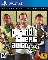 Grand Theft Auto V PREMIUM ONLINE EDITION PS4 NEW! GTA, TRUE CRIME UNDERWORLD