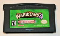 WARIO LAND 4 NOT FOR RESALE NFR DISPLAY VERSION NINTENDO GAMEBOY ADVANCE SP GBA