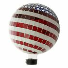 Gazing Ball Patriotic Stars Glass Globe,10 Inches,Poly Resin,Weather Resistant