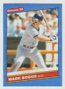 (8) Wade Boggs 2020 DONRUSS 1986 RETRO CARD LOT #215 BOSTON RED SOX