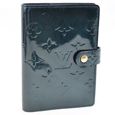 Auth Louis Vuitton Vernis Agenda PM Day Planner Cover Bleu Nuit #S2179 E