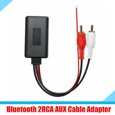 23CM Bluetooth AUX Cable Adapter Connector for 12V Car SUV with 2RCA Interface