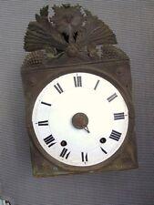 Horloge comtoise pendule mouvement deux marteaux cloche Hora Fugit époque 19ème