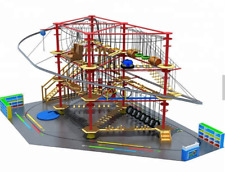 12,000 sqft Commercial Roller Coaster Zip Line Rope Soft Playground We Finance