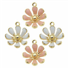 20pcs Assorted Alloy Mixed Daisy Flower Pendant Charms Jewelry DIY Accessories