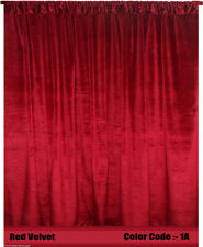 Saaria Velvet Double Sided Curtain Panel Drape 8'W x 8'H Home Theater Curtain