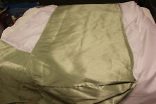 "Free Shipping! Solid Faux Silk Bed Skirt Queen/King 17"" Drop Green New 100% Poly"