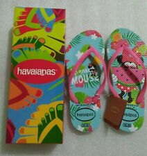 DressNStyle NWT Original HAVAIANAS Minnie Mouse Print Slippers Flip-Flops S35 FF
