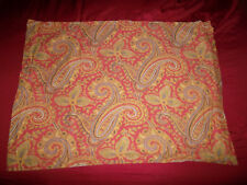 Ralph Lauren Standard Pillow Sham Pair Red blue Gold Medallion Paisley