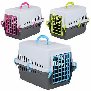 Pet Cat Dog Puppy Carrier Basket Bag Cage Portable Travel Kennel Box Vet W/Door