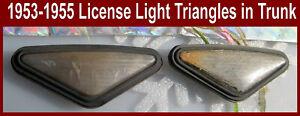 Corvette Parts  1953 1954 1955 License Light Lens Rubber Triangle Back Metal PR